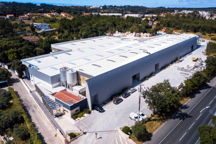 View from LSI Stone Factory in Leiria, Portugal