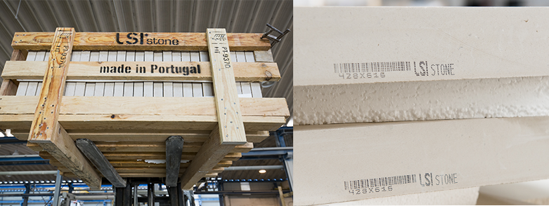 LSI Stone's factory packing natural stone blocks