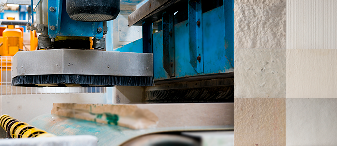 Manufacture work in the finishing line at LSI Stone's factory